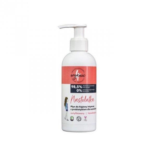 4ORGANIC Płyn do higieny intymnej dla nastolatek z probiotykiem 200ml