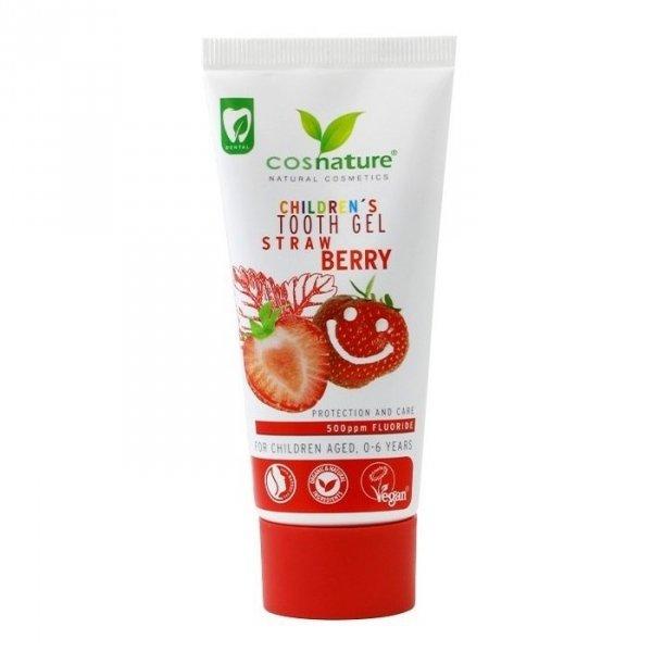 Cosnature Żelowa pasta do zębów dla dzieci o smaku truskawkowym (0-6 lat)