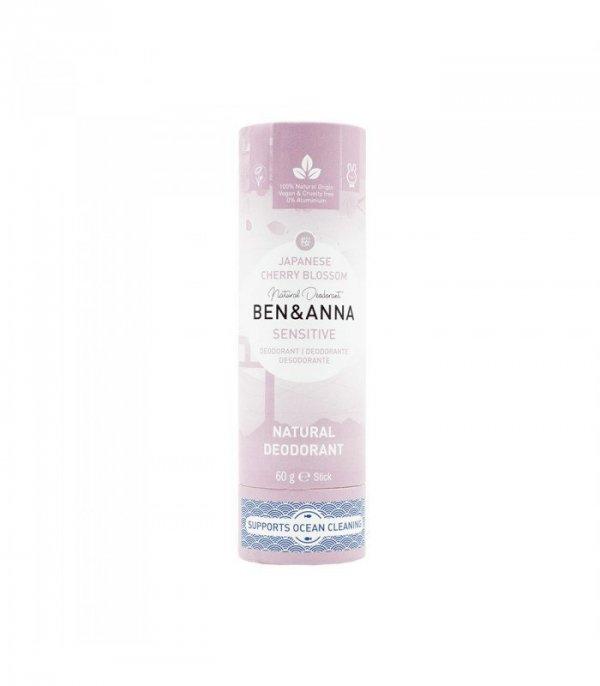 BEN & ANNA Naturalny dezodorant bez sody JAPANESE CHERRY BLOSSOM sztyft kartonowy SENSITIVE 60g