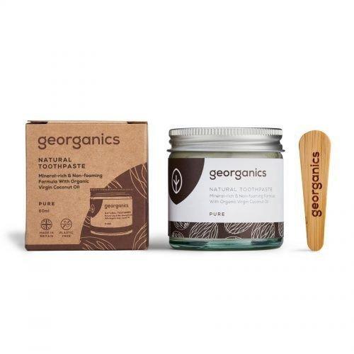 GEORGANICS Mineralna pasta do zębów w słoiku z olejem kokosowym Pure Coconut 60ml