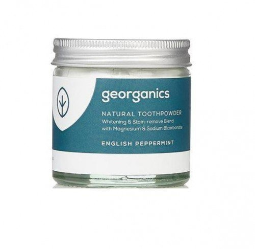 GEORGANICS Proszek do czyszczenia zębów z mięta pieprzową English Peppermint, 60 ml