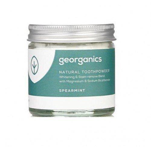 GEORGANICS Proszek do czyszczenia zębów z mięty zielonej Spearmint, 60 ml