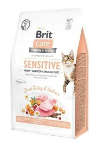 Brit Care Sensitive 2kgdla kotów z wrażliwym układem pokarmowym Indyk Łosoś