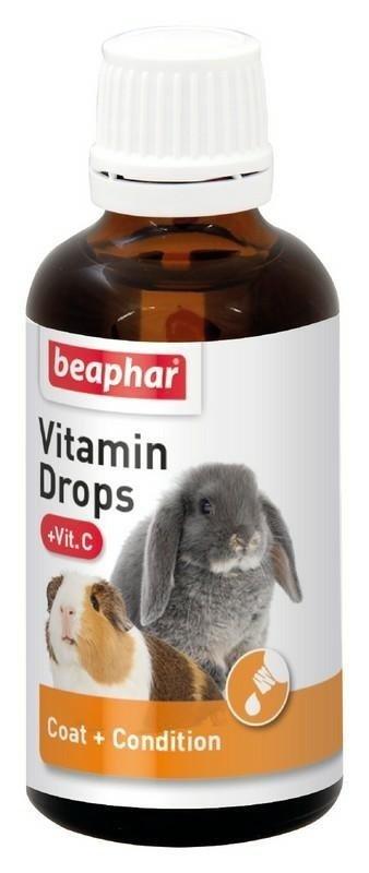beaphar Vitamin Drops + Vit C 50ml Witaminy dla Gryzoni i Królików