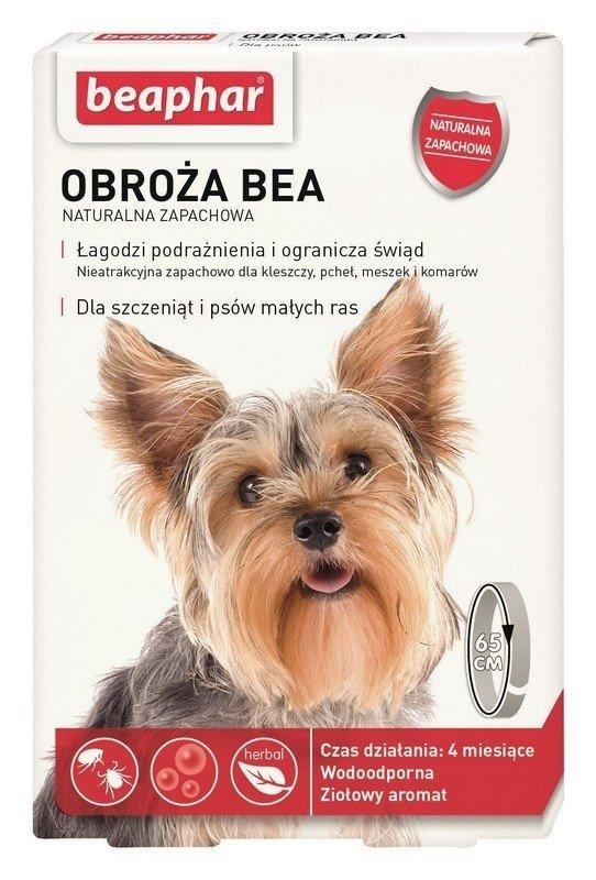 beaphar Obroża BEA S przeciw pchłom i kleszczom 65cm naturalny zapach