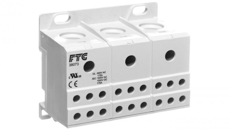 Blok rozdzielczy 3-potencjalowy szary AUX38073 82120002