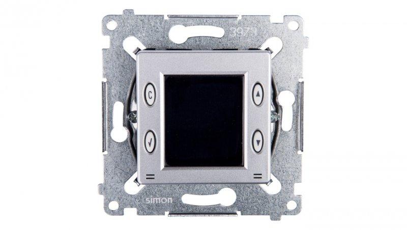Simon 54 Termostat 8A z wewnętrznym czujnikiem temperatury srebrny mat D75817.01/43