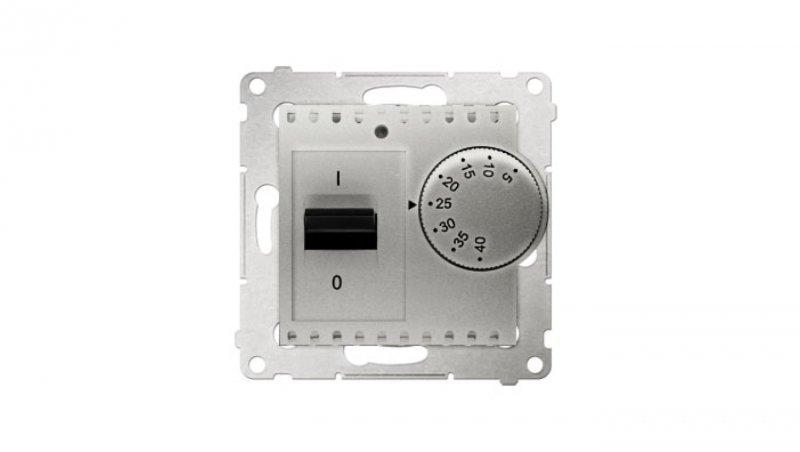 Simon 54 Regulator temperatury 5-40°C IP20 srebrny mat DRT10W.02/43