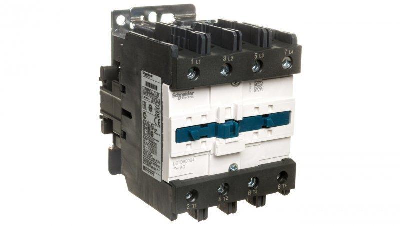 Stycznik mocy 125A 4P AC-1 230V AC 0Z 0R LC1D80004P7