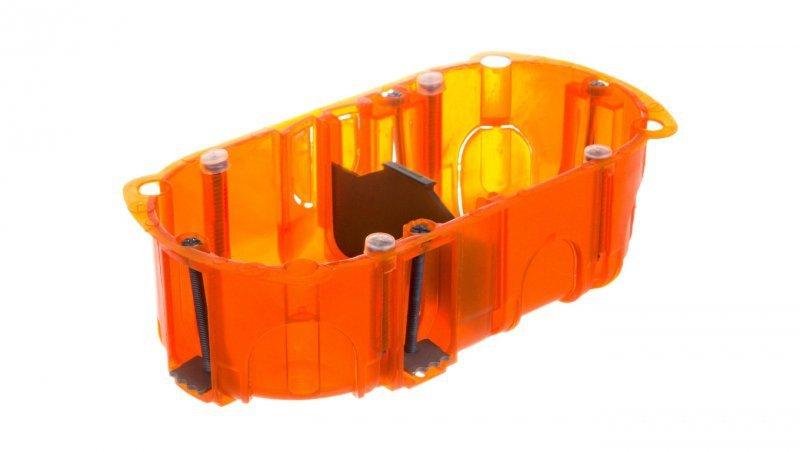 Puszka do betonu 72mm 143x 40mm Ze śrubami czerwony Batibox 080102