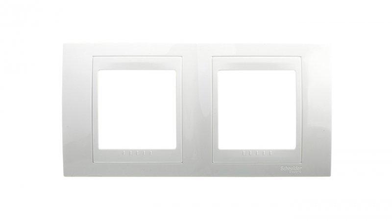Unica Plus Ramka podwójna pozioma biel polarna MGU6.004.18