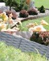 Rasenkante Gartenpalisade 3,9m Weidenzaun-Optik Grau