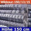 Wildzaun Forstzaun Weidezaun 150/13/15 50 Meter