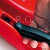 Bob Schlitten Race mit Bremsen und Zugseil in rot