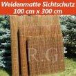 Weidenmatte Sichtschutz Rollzaun 100 cm x 300 cm