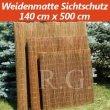 Weidenmatte Sichtschutz Rollzaun 140 cm x 500 cm