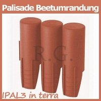 Palisade 2,1m in terracotta