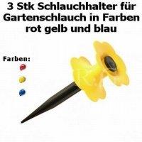 3 Stk Schlauchhalter für Gartenschlauch