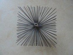 Schornsteinbesen Quadrat Kaminbesen aus Stahl 20 x 20cm