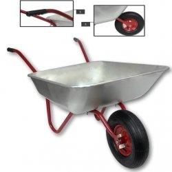 Schubkarre 120L Bauschubkarre Schiebkarre bis 150kg Gartenkarre verzinkt Luftrad