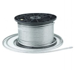 3m Stahlseil Drahtseil galvanisch verzinkt Seil Draht 4mm 6x7