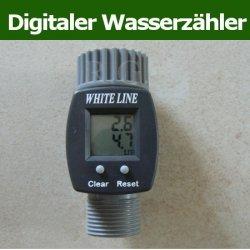 Digitaler Wasserzähler Wasserdurchlauf-Messgerät LCD für den Garten