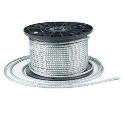 50m Stahlseil Drahtseil galvanisch verzinkt Seil Draht 2,5mm 6x7