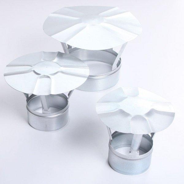 Regenhaube Regenhut Einsteck für Ofenrohre Kamin verzinkt 130