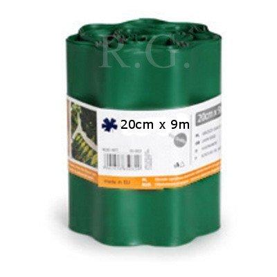 Rasenkante 20cm x 9m in dunkelgrün