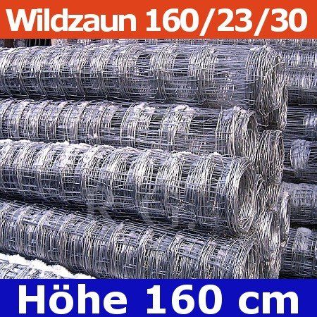 Wildzaun Forstzaun Weidezaun 160/23/30 50 Meter