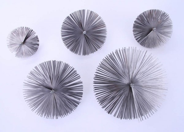 Schornsteinbesen Kaminbesen aus Federstahl 25cm