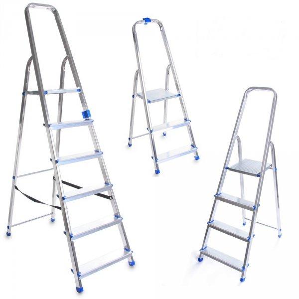 Leiter Aluleiter Einseitige Klappleiter 5 Stufen