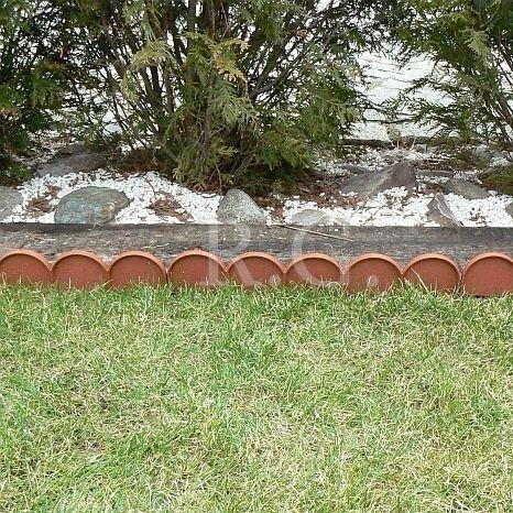 Zierzaun Schmueckzaun 10m terracotta