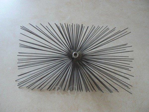 Schornsteinbesen Rechteckig Kaminbesen aus Stahl 22 x 24cm