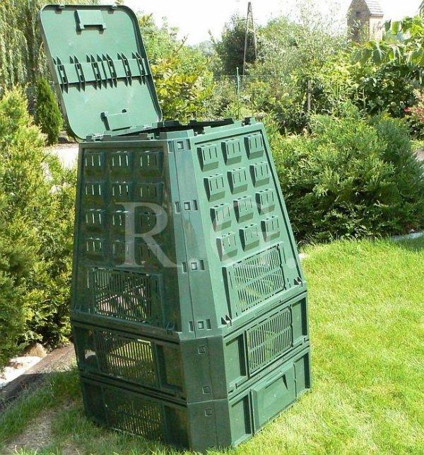 Thermokomposter 850 L dunkelgrün