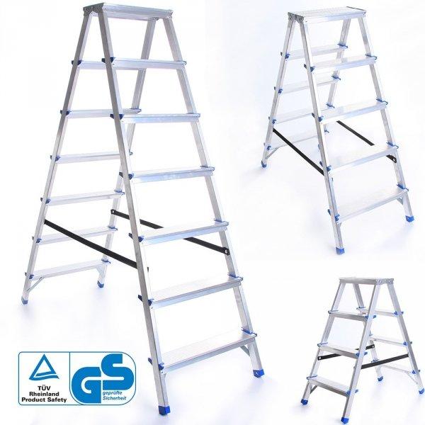 Leiter Aluleiter Zweiseitige Klappleiter 5 Stufen