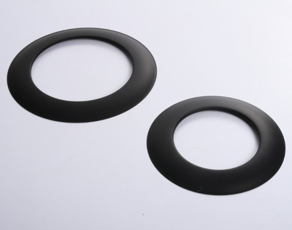 Rosette Wandrosette für Ofenrohre schwarz 120