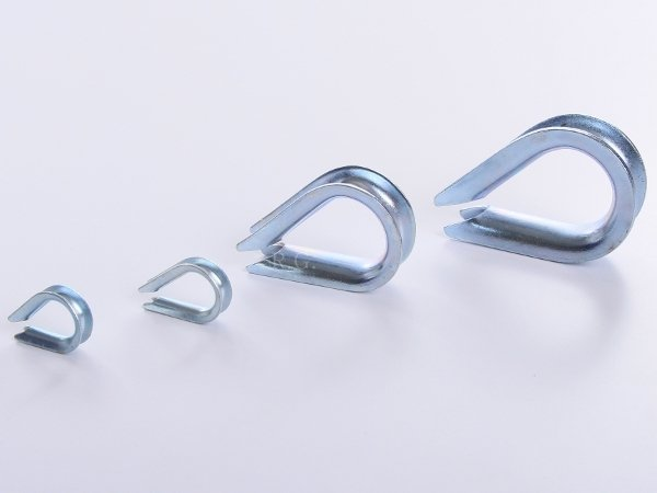10x Kauschen Kausche für Stahlseil 10 mm