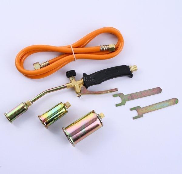 Gasbrenner 3tlg. Abflammgerät Brenner Dachbrenner + Adapter