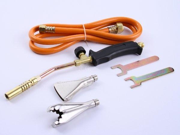 Handlötset 4 tlg. Lötbrenner Handlötgerät Gaslötgerät Gasbrenner + Adapter