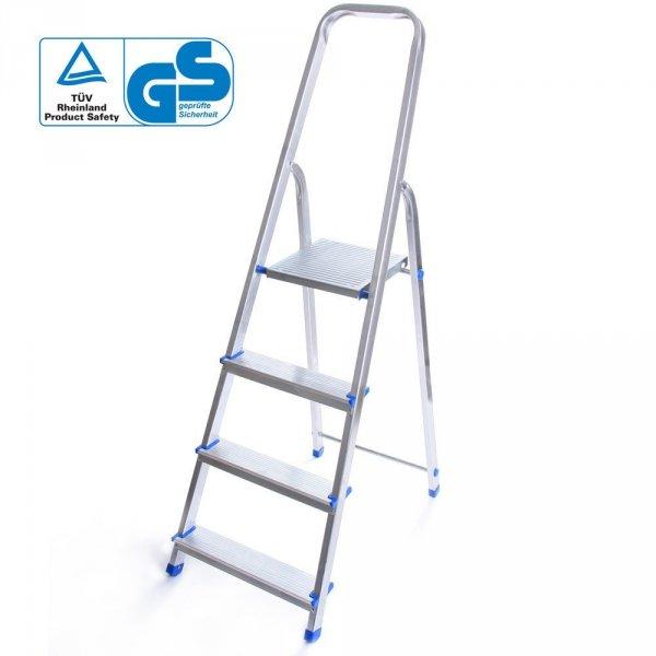 Leiter Aluleiter Einseitige Klappleiter 4 Stufen