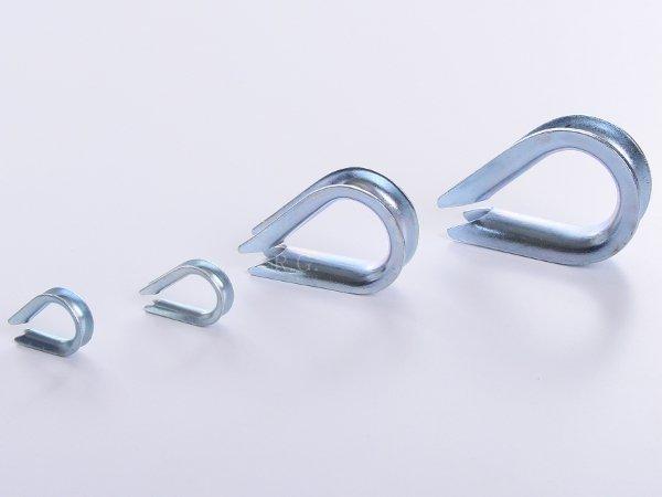 10x Kauschen Kausche für Stahlseil 4 mm