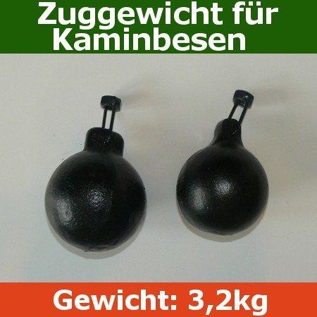 Zuggewicht für Kaminbesen Schornsteinbesen 3,2kg