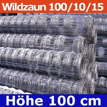 Wildzaun Forstzaun Weidezaun 100/10/15 50 Meter