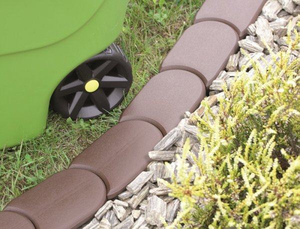 Palisade Rasenkante Beetumrandung 3,8m IPAK1 Terrakotta