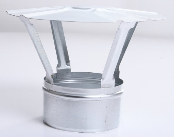 Regenhaube Regenhut Einsteck für Ofenrohre Kamin verzinkt 150