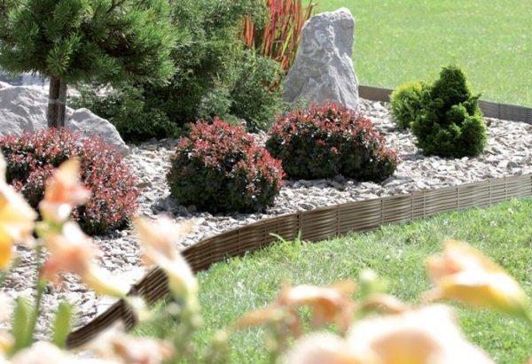 Rasenkante Gartenpalisade 3,9m Weidenzaun-Optik Braun