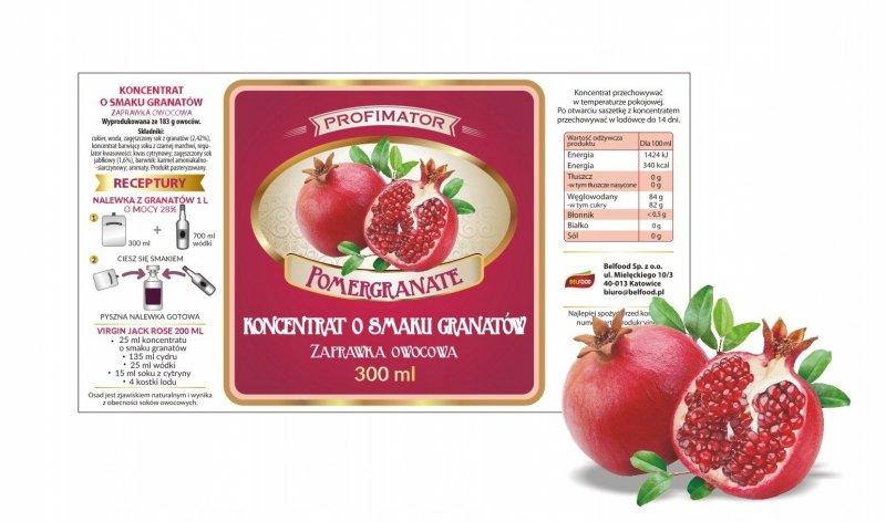 Zaprawka na nalewkę GRANAT 300 ml/1l