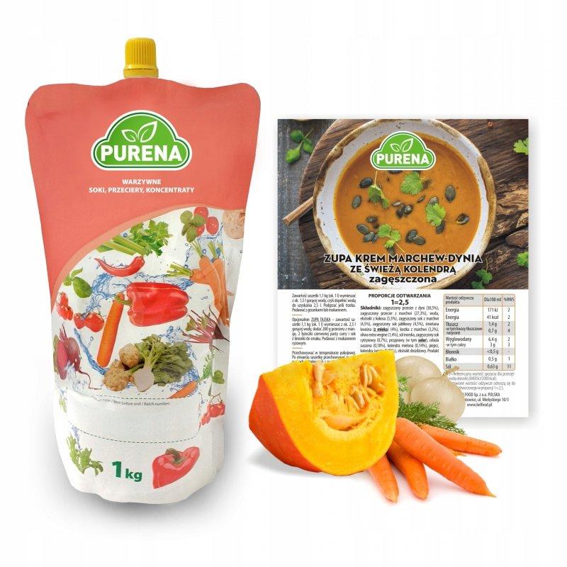 Zupa krem marchew-dynia zagęszczona 3x1kg = 7,5 l zupy