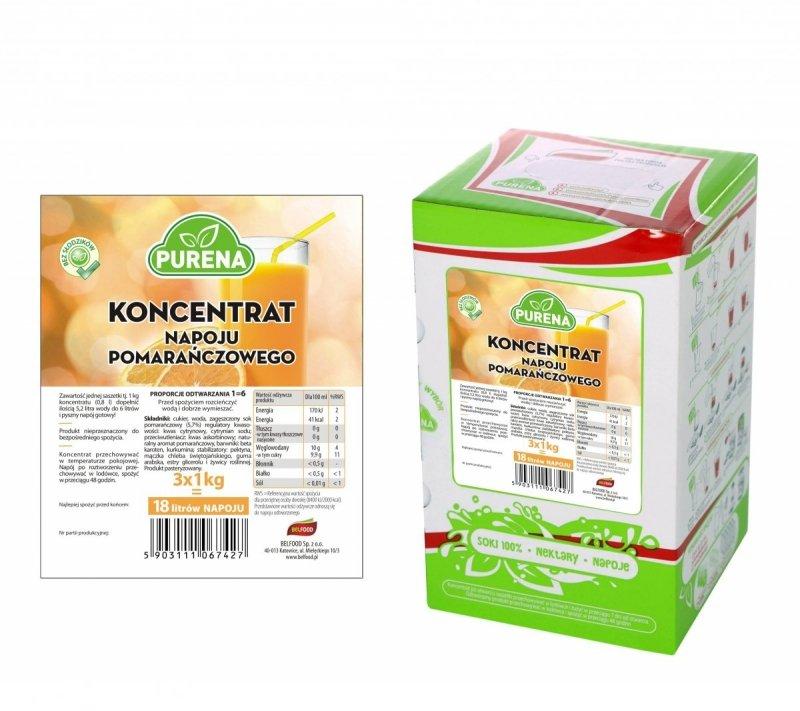 Napój pomarańczowy koncentrat 18l/3kg